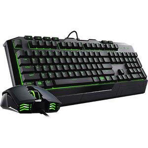 Cooler Master SGB-3032-KKMF1-US Devastator II Green LED Keyboard & Mouse