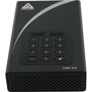 Apricorn ADT-3PL256-4000 Aegis Padlock DT 4 TB External Hard Drive