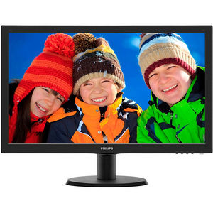 """Philips 243V5LSB V-line 23.6"""" LED LCD Monitor - 16:9 - 5 ms"""