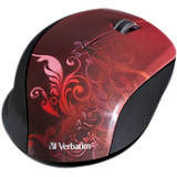 Verbatim 97784 Wireless Notebook Optical Mouse, Design Series - Red