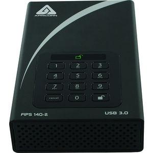 "Apricorn ADT-3PL256F-8000 Aegis Padlock DT FIPS 8 TB 3.5"" External Hard Drive - Desktop"