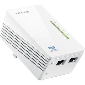 TP-LINK TL-WPA4220 300Mbps Wireless AV500 Powerline Extender, 500Mbps Powerline Datarate