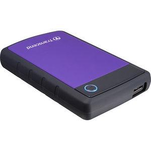 """Transcend TS4TSJ25H3P StoreJet 25H3 4 TB 2.5"""" External Hard Drive - SATA - Portable"""