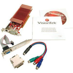 VisionTek 900321 Radeon 3450 Graphic Card - 512 MB DDR2 SDRAM - Low-profile
