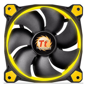 Thermaltake CL-F039-PL14YL-A Riing 14 High Static Pressure LED Radiator Fan