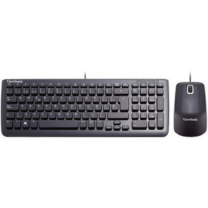 ViewSonic VMP10B_KM1ES05 USB Keyboard and Mouse Bundle, Spanish keyboard, Black
