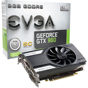 EVGA 02G-P4-2961-KR GeForce GTX 960 Graphic Card - 1.13 GHz Core - 2 GB GDDR5 - Dual Slot