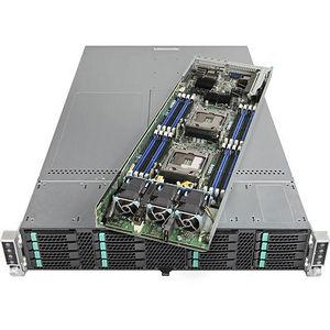 Intel VRN2224THY2 2U Rack-mountable Barebone - C612 Chipset - Socket R3 LGA-2011 - 8 x CPU Support
