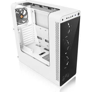 Thermaltake CA-1G7-00M6WN-WT View 27 Snow Edition Gull-Wing Window ATX Mid-Tower Chassis