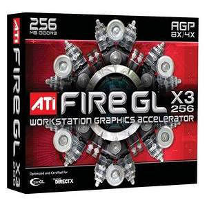 AMD 100-505096 FireGL X3-256 Graphics Card
