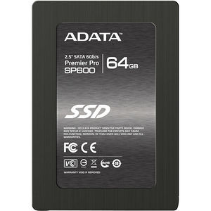 "ADATA ASP600S3-64GM-C Premier Pro SP600S3 64 GB 2.5"" Solid State Drive - 6Gb/s SAS - Internal"