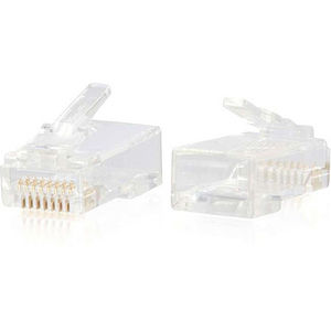 C2G 00888 RJ45 Cat6 Modular Plug for Round Solid/Stranded Cable - 25pk