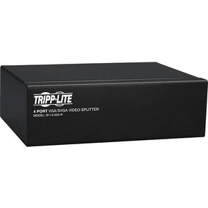 Tripp Lite B114-004-R 4-Port VGA / SVGA Video Splitter Signal Booster High Resolution Video