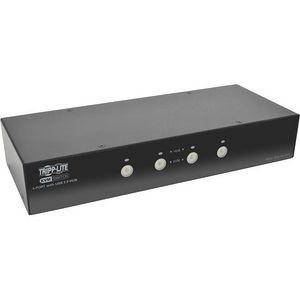 Tripp Lite B004-DPUA4-K 4-Port DisplayPort KVM Switch w/Audio, Cables and USB 3.0 SuperSpeed Hub