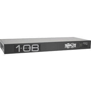 Tripp Lite B072-008-1-IP 8-Port IP Cat5 KVM Switch Compact 1+1 User Rackmount