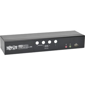 Tripp Lite B004-DUA4-HR-K 4-Port DVI/USB KVM Switch Dual Link w/ Audio & Cables