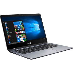 "ASUS TP410UA-DB71T VivoBook Flip 14 14"" Touchscreen LCD Notebook - Intel Core i7-7500U 2C 2.70 GHz"