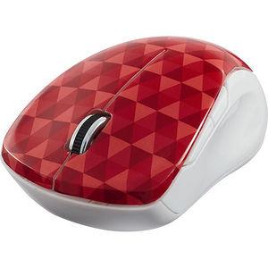 Verbatim 99744 Wireless Notebook Multi-Trac Blue LED Mouse - Diamond Pattern Red