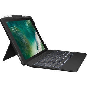 "Logitech 920-008432 Slim Combo Keyboard/Cover Case (Folio) for 12.9"" iPad Pro - Black"