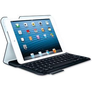 "Logitech 920-005893 Keyboard/Cover Case (Folio) for 7"" Apple iPad mini Tablet - Black"