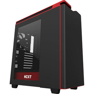 NZXT CA-H442W-M1 H440 Computer Case - Mid-tower - Matte Black, Red