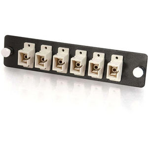 C2G 31109 Quiktron Q-Series 6-Strand, SC, PB Insert, MM, Beige SC Adapter Panel