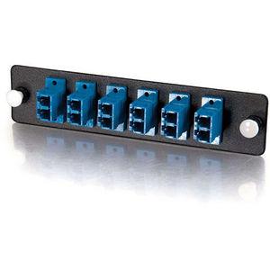 C2G 31116 Q-Series 12-Strand, LC Duplex, PB Insert, MM/SM, Blue LC Adapter Panel
