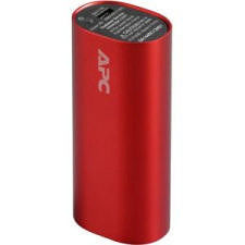 APC M3RD Mobile Power Pack, 3000mAh Li-ion Cylinder, Red