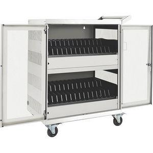 Tripp Lite CSC32ACW 32-Port AC Charging Cart Storage Station Chromebook Laptop White