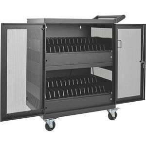 Tripp Lite CSC32AC 32-Port AC Charging Cart Storage Station Chromebook Laptop Tablet