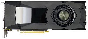 ZOTAC ZT-P10800D-10B GeForce GTX 1080 Graphic Card - 1.61 GHz Core - 8 GB GDDR5X - Dual Slot