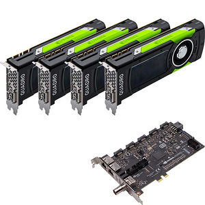 PNY VCQP6000SYNC-4P6KIT Quad Quadro P6000 Graphic Card - 24 GB GDDR5X + Quadro Sync II Turnkey Kit
