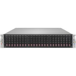 "Exxact TensorEX TTJ-1340750 2U JBOD 24x 2.5"" SATA/SAS hot-swap drive chassis"