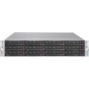 "Exxact TensorEX TTJ-1340768 2U JBOD 12x 3.5"" SATA/SAS hot-swap drive chassis"