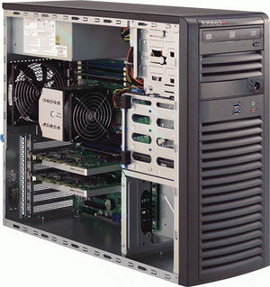 Supermicro SYS-5038A-I 3U Mid-tower Barebone - Intel C612 Chipset - Socket R3 LGA-2011 - 1 x CPU