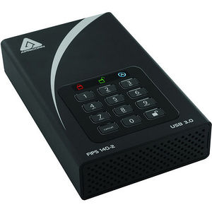 Apricorn ADT-3PL256F-12TB Aegis Padlock DT FIPS 12 TB External Hard Drive - Desktop - TAA Compliant