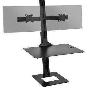 SIIG CE-MT2H12-S1 Dual Display Adjustable Computer Keyboard Stand
