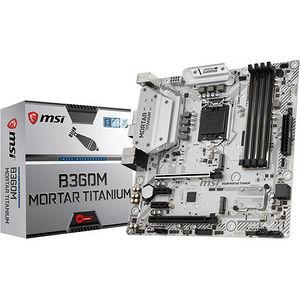MSI B360MMORTI B360M MORTAR TITANIUM Desktop Motherboard - Intel Chipset - Socket H4 LGA-1151