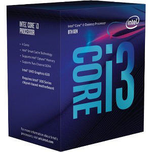 Intel BX80684I38300 Core i3 i3-8300 Quad-core 3.70 GHz Processor - Socket H4 LGA-1151