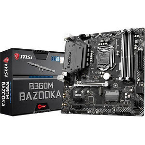 MSI B360MBAZKA B360M BAZOOKA Desktop Motherboard - Intel Chipset - Socket H4 LGA-1151