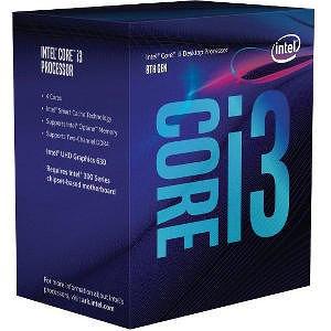 Intel CM8068403377308 Core i3 i3-8100 4 Core 3.60 GHz Processor - Socket H4 LGA-1151 - OEM
