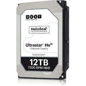 "HGST 0F29531 Ultrastar He12 512E TCG HUH721212AL5201 12 TB SAS 3.5"" 7200RPM 256 MB Cache Hard Drive"