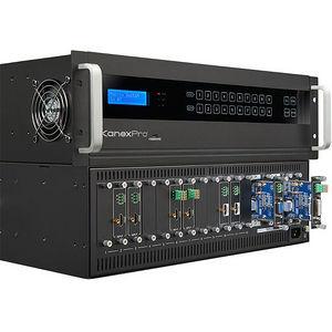 KanexPro FLEX-MMX16 4K Flexible Modular Matrix with 16 I/O slots