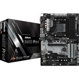 ASRock B450 PRO4 Desktop Motherboard - AMD Chipset - Socket AM4