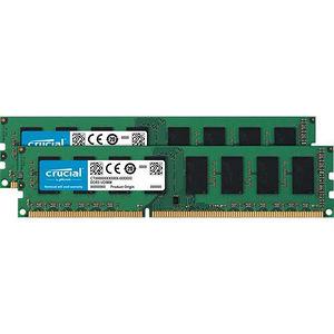 Crucial CT2K51264BD160BJ 8GB (2 x 4 GB) DDR3 SDRAM Memory Module - Non-ECC - Unbuffered