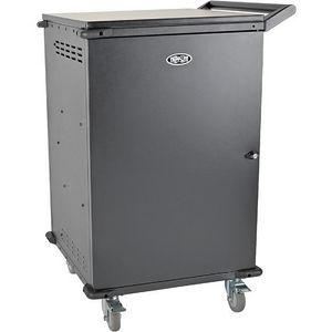 Tripp Lite CSC42AC 42-Port AC Charging Cart Storage Station Chromebook Laptop Tablet Black