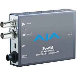 AJA 3G-AM-XLR 3G-SDI 8-Ch AES Embedder/Disembedder-bal. XLR-USB Mini-Conf.