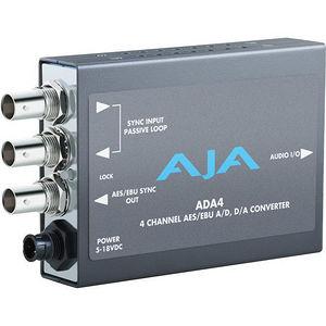 AJA ADA4 Audio A/D and D/A Converter, 4-Ch Bidirectional, balanced XLR