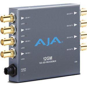AJA 12GM 12G/6G/3G/1.5G HD/SD SDI Muxer and Demuxer