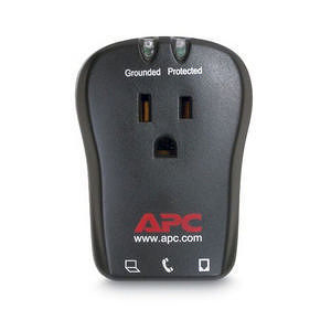 APC P1T Essential Notebook SurgeArrest 1 Outlet W/Tel 120V